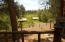 Looking south from the deck to barn, loafing shed, lower irrigated pasture. Elk visit this spot frequently.