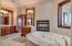Master bath with fireplace & jetted tub