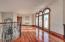 Walkway between 2nd level bedrooms. Brazilian cherry wood floors.