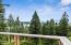 Views from the deck overlooking Whitefish Lake and Glacier National Park and Bad Rock Canyon