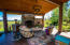 wood fireplace and wood fire pizza oven