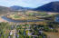 Aerial proximity to Clark Fork River, looking east