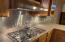 Kitchen Sparkle: Stainless 5 burner cook top and Backsplash!