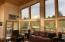Atrium Doors Open onto Beautiful Wrap Deck.