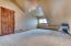 Loft area has access to storage in attic