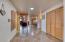 Wide hallway between kitchen/dining to Living Room