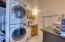 basement laundry room and bathroom