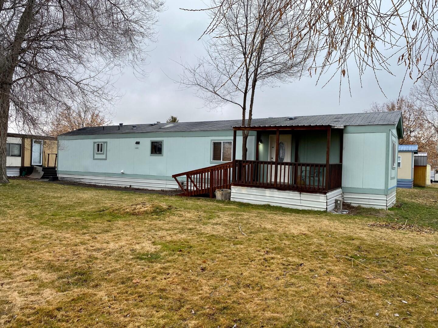 This recently updated 2 bedroom, 1 bathroom 1986 Guerdon mobile home is conveniently located in Travois Village Mobile Home Park; with easy access to downtown and the Reserve St shopping corridor. Updates include new flooring, walls, interior/exterior paint, trim, windows, cabinets, doors, skirting insulation, fully remodeled bathroom, new deck, and more.  West side of the home borders a common area which allows great west facing views off of the covered deck.  Two year old stainless steel appliances, shed and two dedicated parking spaces.Buyers must be approved by Travois Mobile Home Park.  Lot rent is $400/month plus water and sewer (approx. $30-$40/mo.