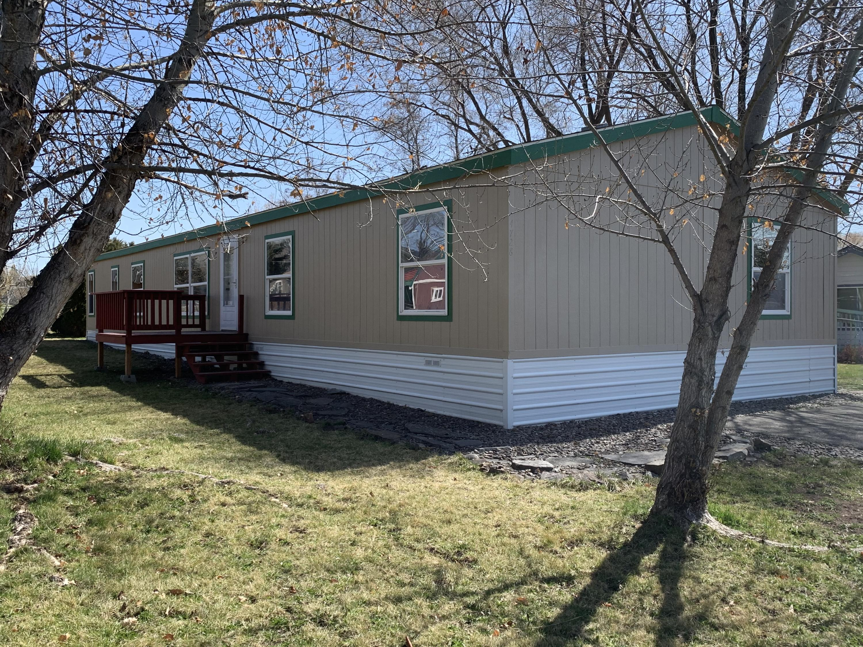FINALLY an affordable home!!Very well-kept, updated manufactured home in Westview Park.  This extremely spacious 2,052 SF-4 bed 2 bath boasts lots of room to roam with an open concept layout. 3 of the 4 bedrooms have over-sized closets. The master bedroom has more room than you can imagine! Large walk-in closet and partially updated master bathroom. Entire exterior of the home has been finished with new paint. A shed on the property allows extra room to store necessary items. This home is completely turnkey with lots of upgrades. Home is on a leased lot-$450/month, includes water, sewer and trash.Buyer must apply and be approved with Westview Park Management to purchase home.Call or text Erika Bears 406.529.8496 or your real estate professional today for a showing