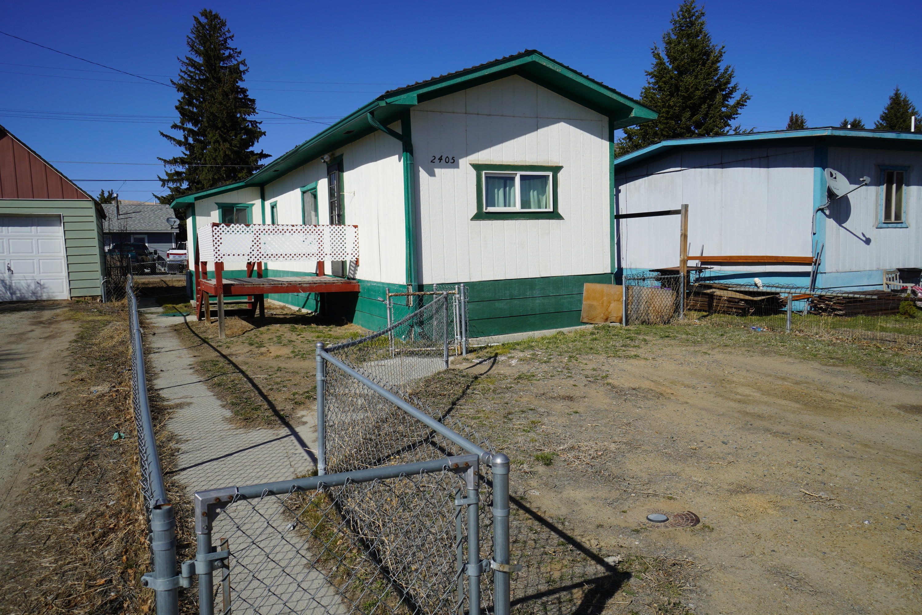 Nice older mobile home on concrete foundation for sale.  There are 2 bedrooms and 1 bathroom, and a large open floor plan with the kitchen, living room and dining area all together.  There is a nice attached deck and a small addition for laundry as well.  A fenced yard is a plus as well.  This unit has a great rental history as well, bringing in $700+/monthly on last lease.  Call Ben Cannon at 406-924-9853, or your real estate professional.Seller is a licensed real estate professional in the state of Montana.