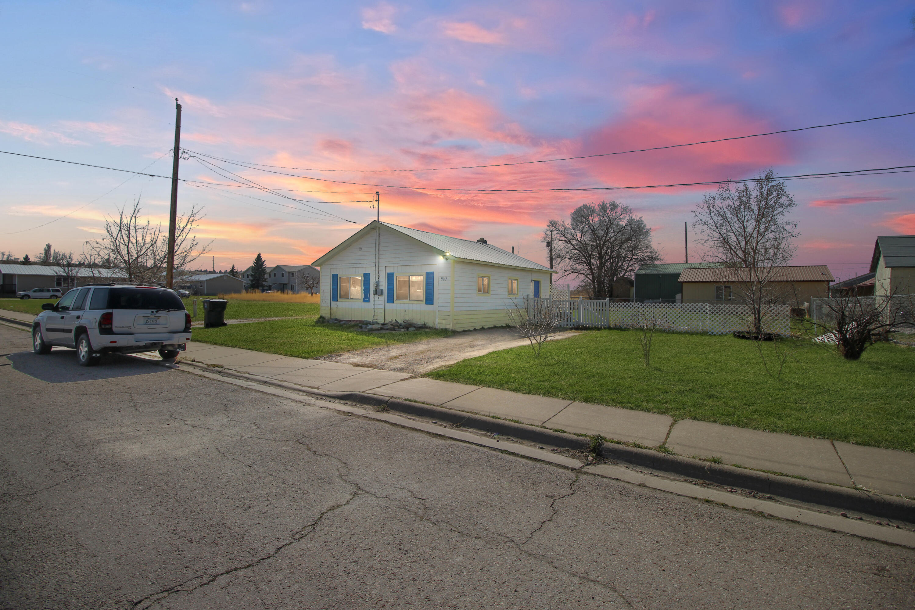 This charming one level home is the perfect starter home or rental property. It has 2 bedrooms, 1 bathroom, and a large fenced back yard for privacy and RV storage. This place is move in ready! All information deemed reliable but not guaranteed. Buyer and/or Buyer's Agent to Verify All Info.