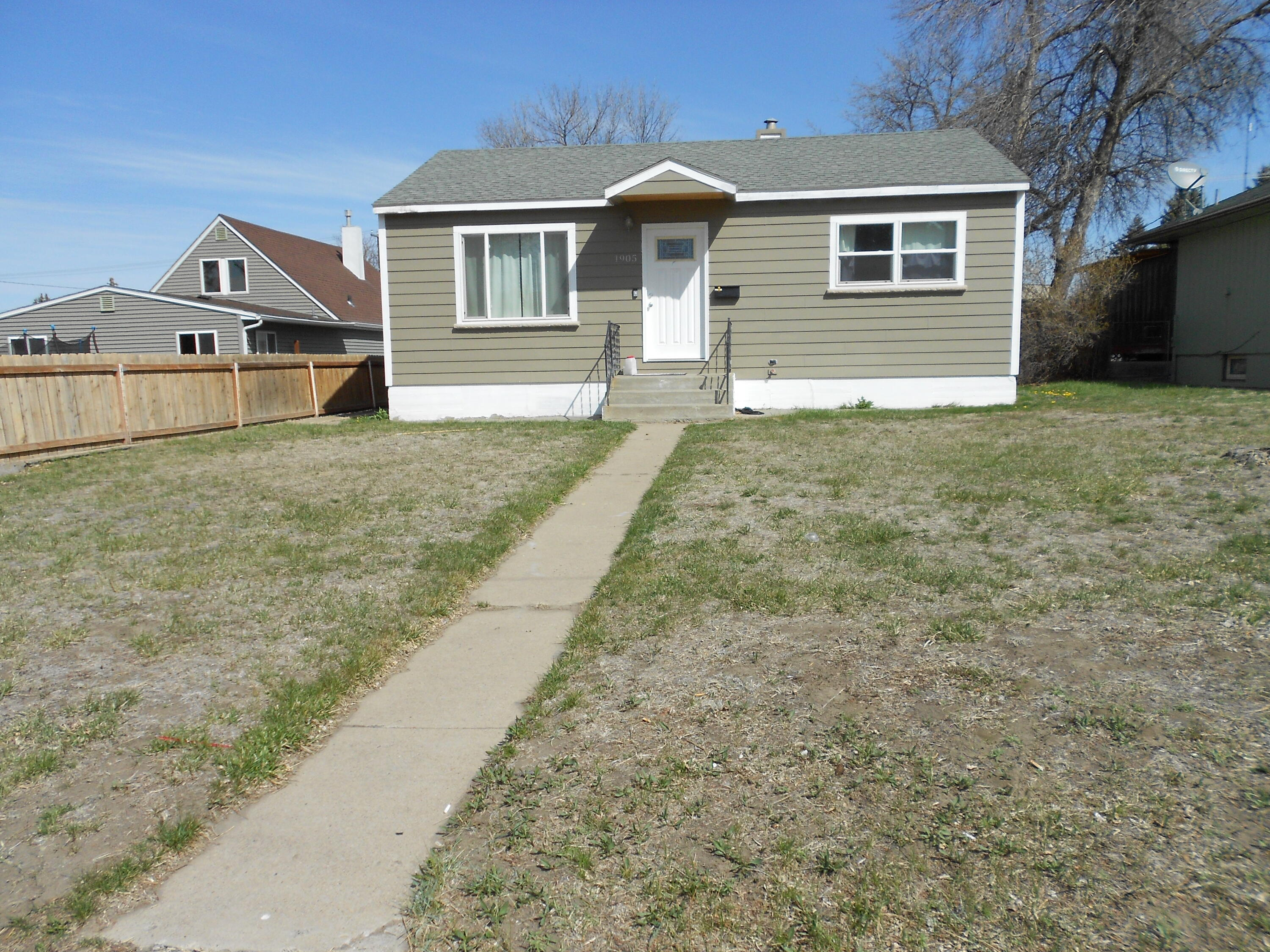 Ranch over basement with detached garage and master that has an ensuite. Updated kitchen, 2 year old windows, roof, doors, paint, siding, cabinets in kitchen, kitchen pantry and flooring. Central air is 4 years old. The Sewer line was replaced in 2005.  Big shed and single car garage along with RV parking. Call Ron Dodd at 406-799-2829, or your real estate professional.
