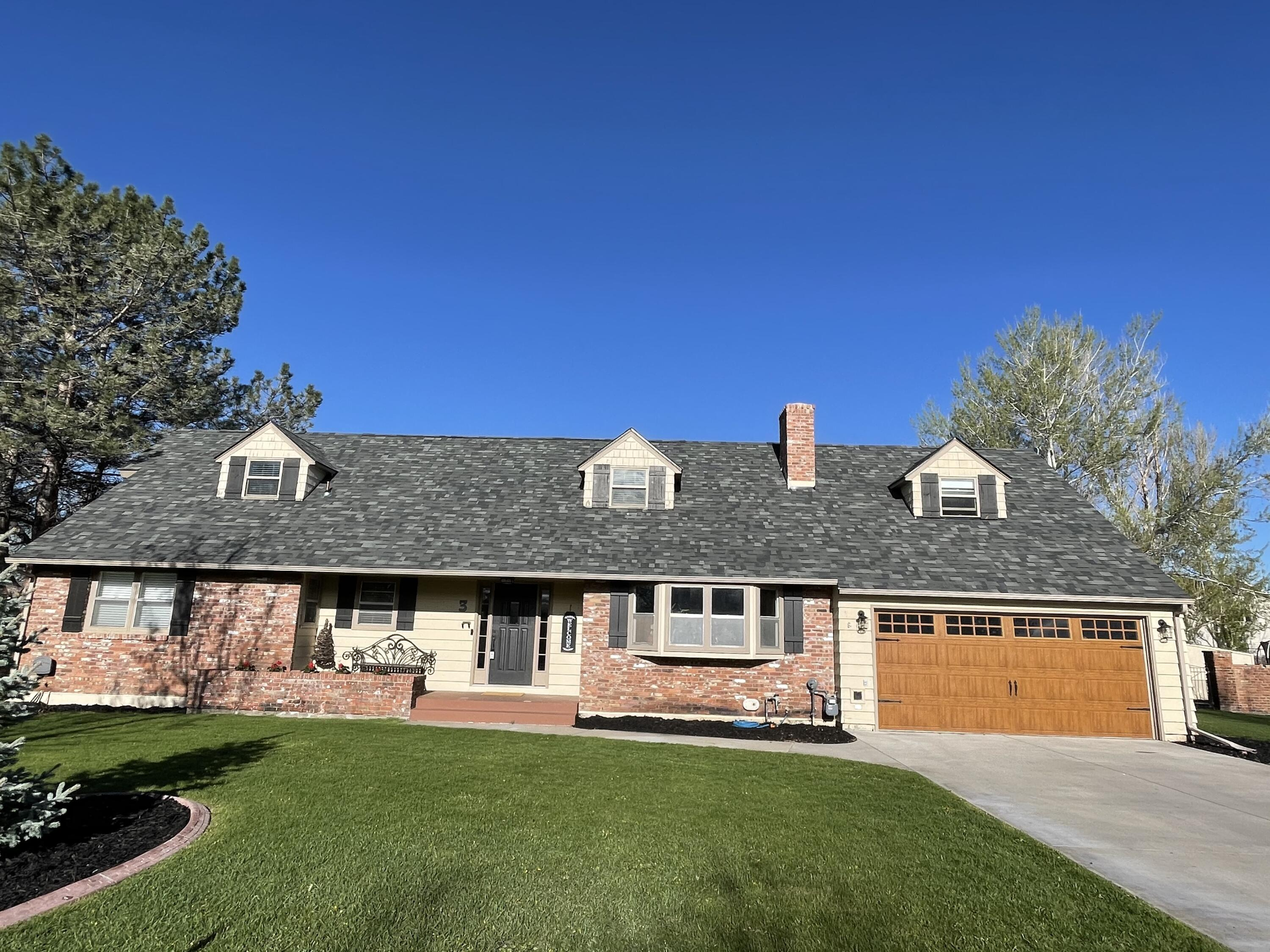 Located in the desirable fox farm area of Great Falls, this 5 bedroom +office, 4 bath home has been tastefully updated in the last year!  It has a new roof (2020), new furnace and AC system, all new light fixtures, faucets, showers, tankless water heater, custom bookcases, blinds, nest thermostats and has been repainted from top to bottom inside.The bedroom on the main floor has its' own bath. There is an additional full bath for guests in the hall.  The four generous bedrooms upstairs all have so much extra storage, look closely!The spacious backyard has plenty of grass area, a playset and a low maintenance POOL!  The 5 foot brick fence around the property is very stately but the additional fence around the pool adds safety and privacy.Don't miss this fabulous property!