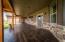 Stamped concrete wrap-around porch