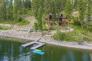 1.5 acres of picturesque waterfront property with private dock.