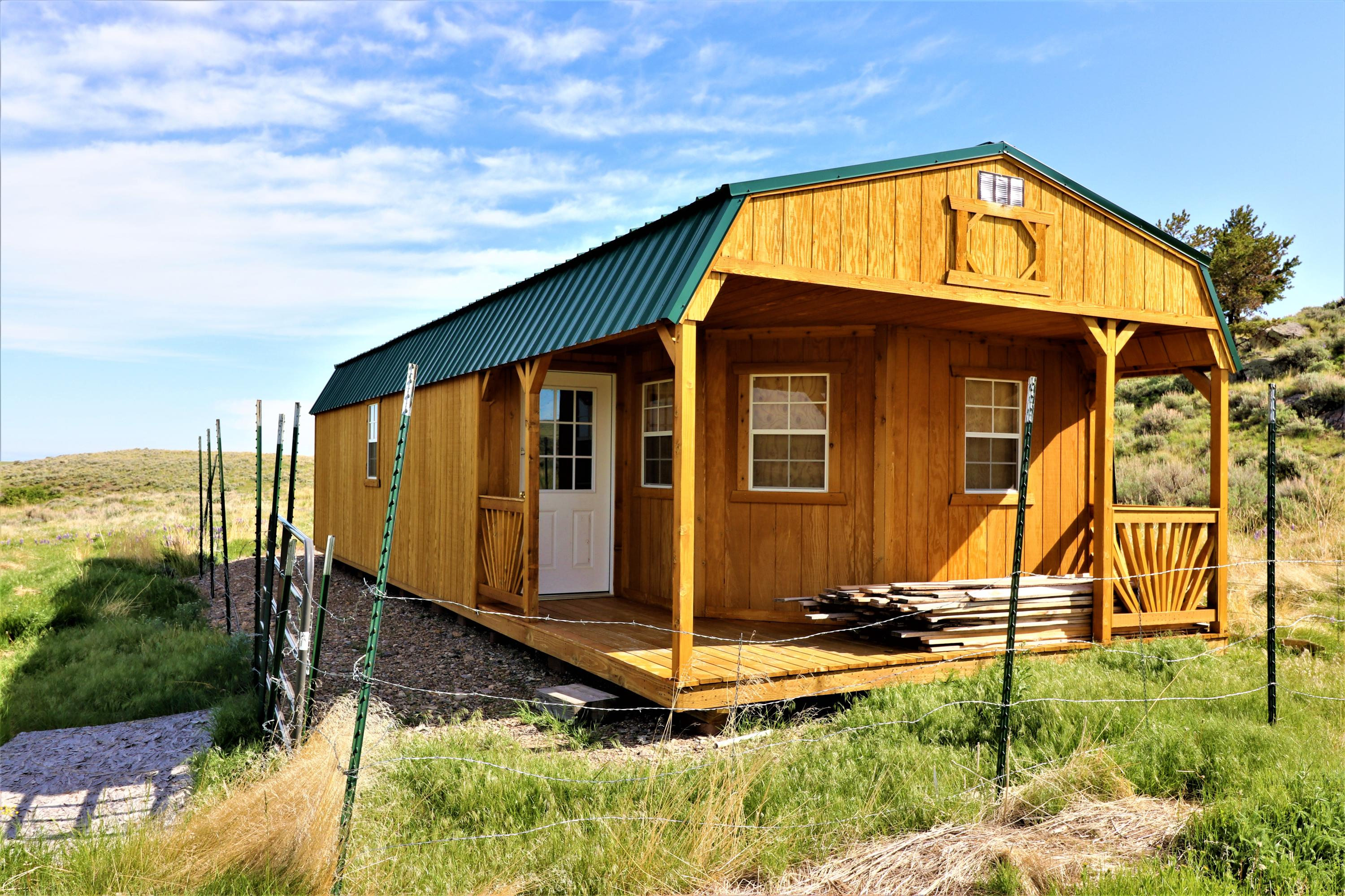 If you are looking for a cabin to complete as your own this is it!  Situated on 20+/- acres with a small stream, stock water rights, a well, septic and solar energy.  No heat source.  Approximately 15 minutes south of White Sulphur Springs in the Black Butte area.