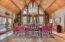 Oversized formal dining room.