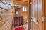 3/4 bath in guest quarters.