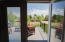 Handy blinds are between the panes of these french doors.
