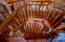 Such craftsmanship in this spiral stair case.