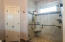 On-suite owners bath - walk in tiled shower