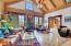 Living room featuring solid oak + cherry +walnut floors