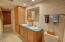 Shower, double sinks and extra storage