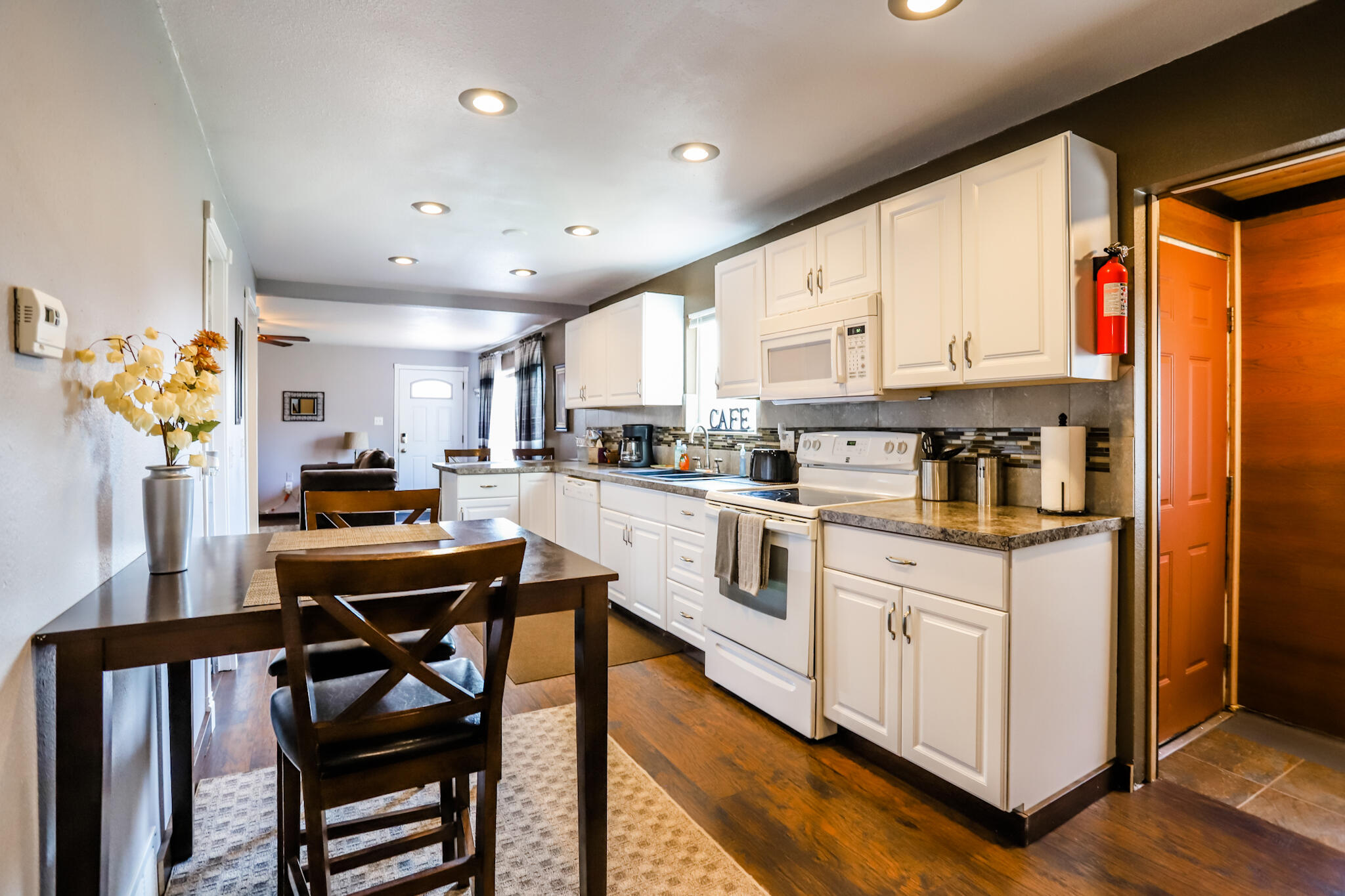 This beautifully renovated, open concept, two bedroom house is full of potential.  Last year it served as a short term rental from July 2020 to July 2021 and grossed $18,000.  Whether you are in search of a home in need of little to no renovating, or you are interested in a turn key rental property, this house provides just that.  With a large yard, patio area, spacious kitchen and nicely updated bathrooms this home has a lot to offer.