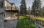 Meticulously maintained yard.