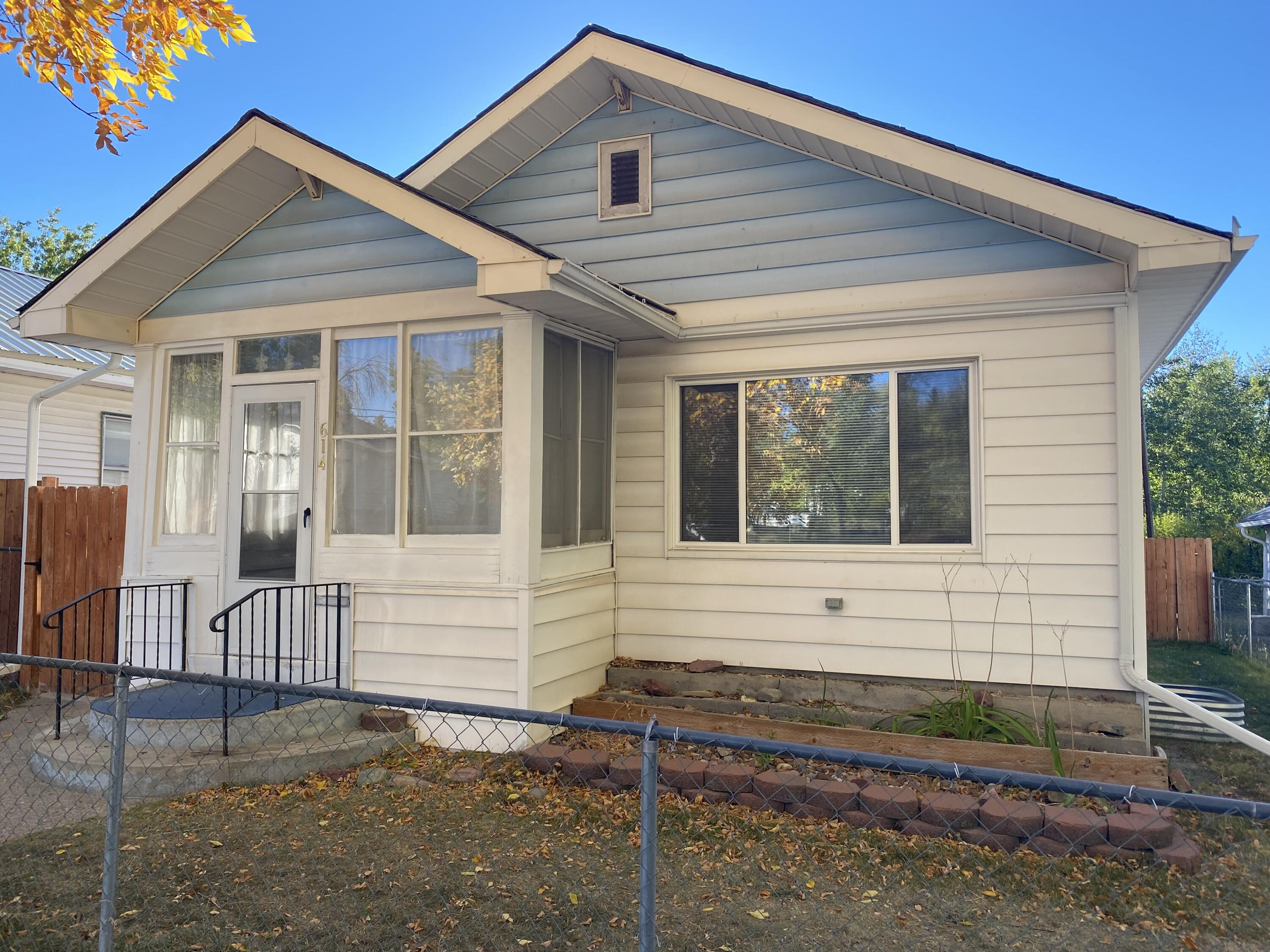 3 Bedroom 1 Bath house with a fences yard.  Downstairs bedroom has egress window.  Backyard has a fenced yard and shed.