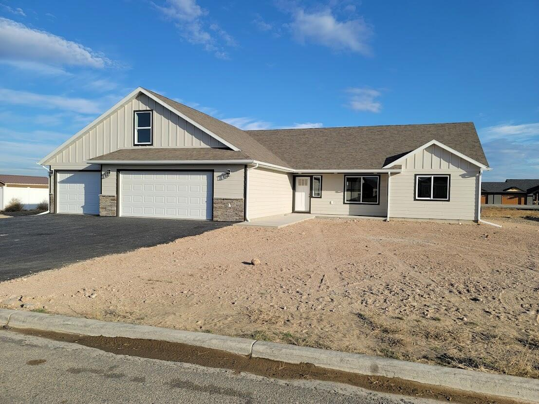 Newly built 4 bedroom/2 bathroom with 3 car garage. It's all ready for you to add the perfect landscaping.Call Cortney at 406-439-7557, or your real estate professional to schedule a showing today.