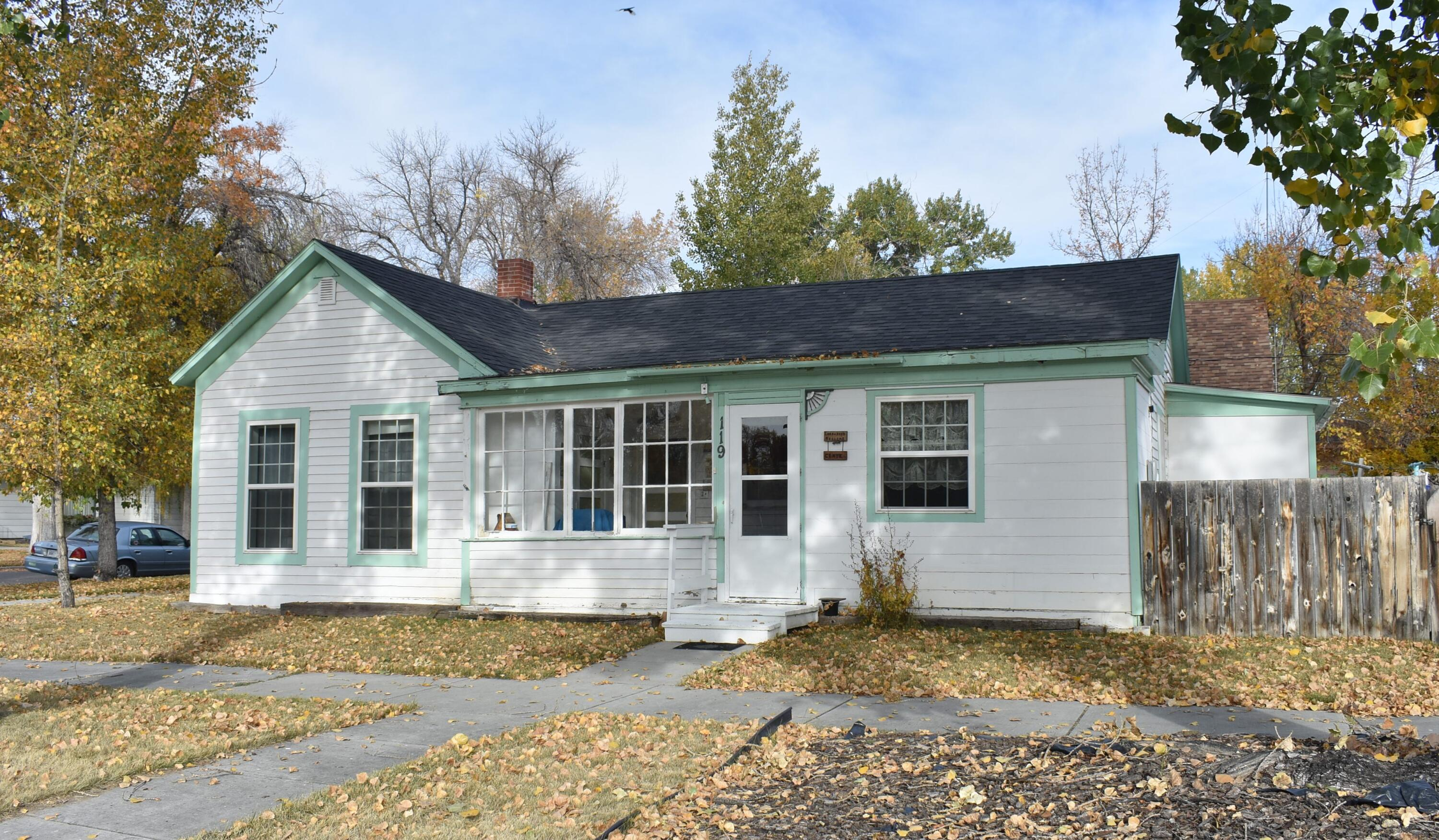 Nice liveable home located just 2 blocks from downtown Choteau.  Corner lot with newer detached garage.  This property is being sold ''as is''.  Some wiring and plumbing has been updated.   Newer roof and some new windows.  Seller will not make any repairs or concessions.  Call Phyllis Bechtold at 406-799-7222 or your real estate professional to schedule a showing.