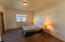 Spacious master suite can easily host a king sized bed.