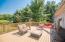 Deck overlooking private backyard