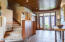 large foyer with back walkout to lake