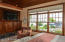 master room view of lake and water fall