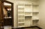 built in shelving in every bedroom closet