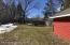 Back fenced yard