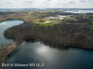 Lake and Land View from Drone