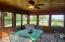 sunroom with exit to fire pit area