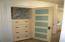 linen closet for storage on the upper level