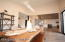 Formal dining off of the kitchen/lakeview