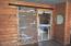 Rustic barn door to master