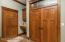 mudroom does have locker system & large closet