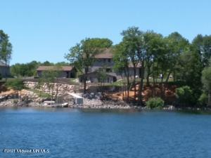 Beautiful view of the property from the lake.