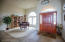 Large Foyer with Italian ceramic tile flooring , great room concept floor plan.