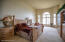 Incredible lake views, French doors entrance, Large rounded/half moon windows, heated floor, 14' ceiling