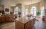 14' ceiling, Italian ceramic flooring,, 2 storage pantries, LED under cabinet lighting,