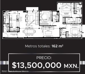 Departamento En Ventaen Miguel Hidalgo, Polanco, Mexico, MX RAH: 21-4494