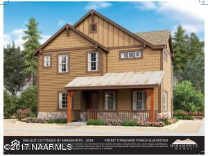 Rendering: View From Grand Canyon Ave. Front Door Entrance & Covered Porch